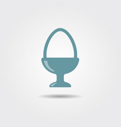 boiled egg in egg cup for breakfast vector image