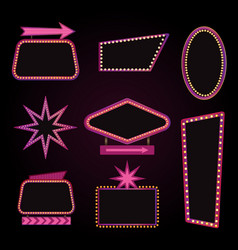 Brightly theater glowing retro cinema neon vector