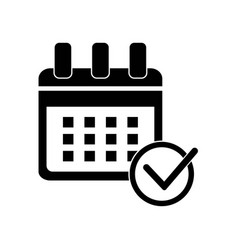 calendar check symbol icon icon simple element vector image