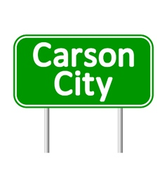 Carson City green road sign vector image