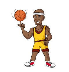 cartoon basketball player vector image