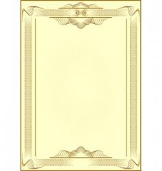 Certificate form vector