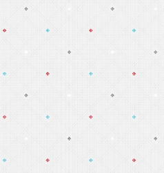 Checkered color seamless linen textured pattern vector image