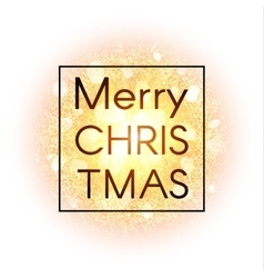 Christmas card on abstract background vector image