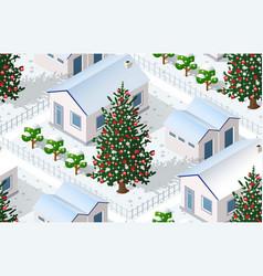 Christmas winter city graphic conceptual holiday vector