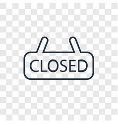 closed concept linear icon isolated on vector image