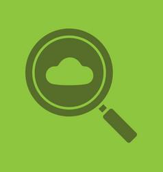 cloud storage search glyph color icon vector image