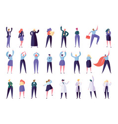 collection creative character success leader vector image
