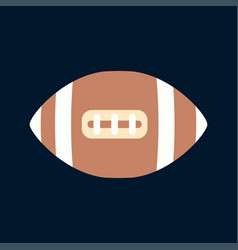 Color icon leather rugby ball sport vector