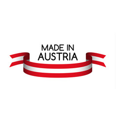 colored ribbon with the austrian colors vector image