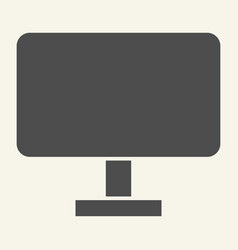 computer monitor solid icon pc screen vector image