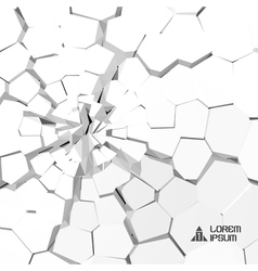 Cracked 3d background vector