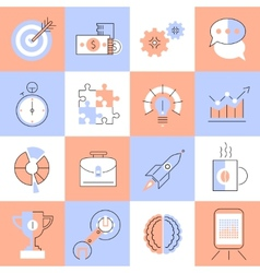 Creative icons set flat line vector