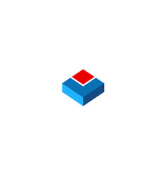 Cube 3d geometry company logo vector