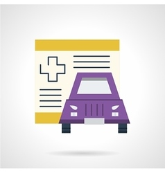 Driver insurance flat icon vector