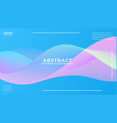 dynamic blue vibrant wave background vector image