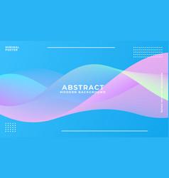 dynamic blue vibrant wave background vector image