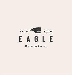 eagle falcon bird e letter hipster vintage logo vector image