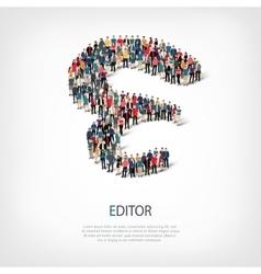 Editor people shape vector