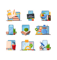 Education tools back to school items for distance vector