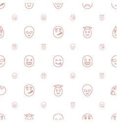Emoji icons pattern seamless white background vector