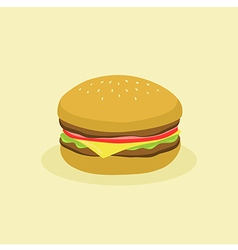 Fast Food Hamburger vector