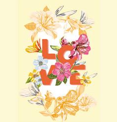 flower invitation card template design vector image