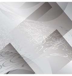 Gray background with geometric abstractions vector