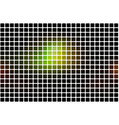 Green brown yellow black abstract rounded mosaic vector