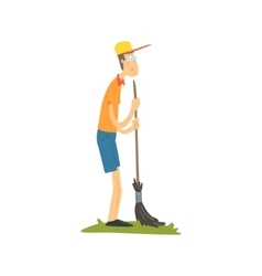 Guy In Glasses Sweeping vector