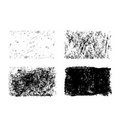 Hand drawn collection grunge textures vector