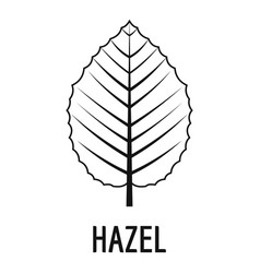 Hazel leaf icon simple black style vector