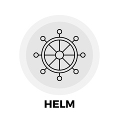 Helm Line Icon vector image