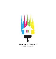 house painting service decor and repair logo vector image