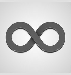infinity 3d icon black template design element vector image