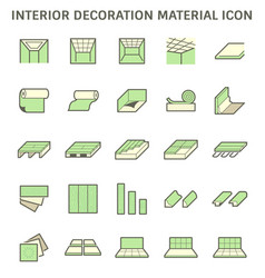 interior decoration material and architectural vector image