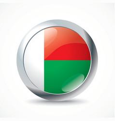 Madagascar flag button vector