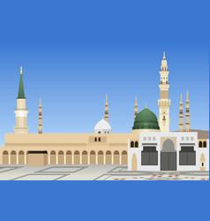Medina mosque in saudi arabia vector