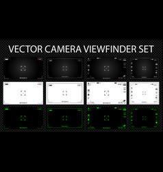 Modern digital video camera focusing screen with vector