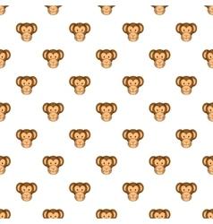 Monkey face pattern cartoon style vector image