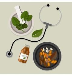 Natural alternative medicine traditional vector