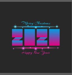 Number 2020 logo design text merry christmas vector