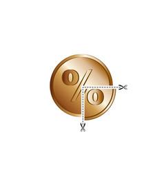Rate cut financial concept reduction interest vector