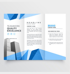 real estate modern brochure design for your vector image