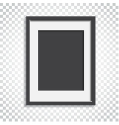 realistic photo frame on isolated background vector image