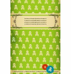 retro skull background vector image