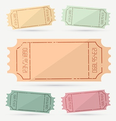 Retro - Vintage Empty Ticket Set vector image