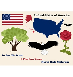 set of USA symbols vector image