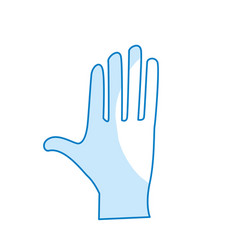 Silhouette cute human hand with all fingers vector