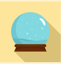 snow glass ball icon flat style vector image